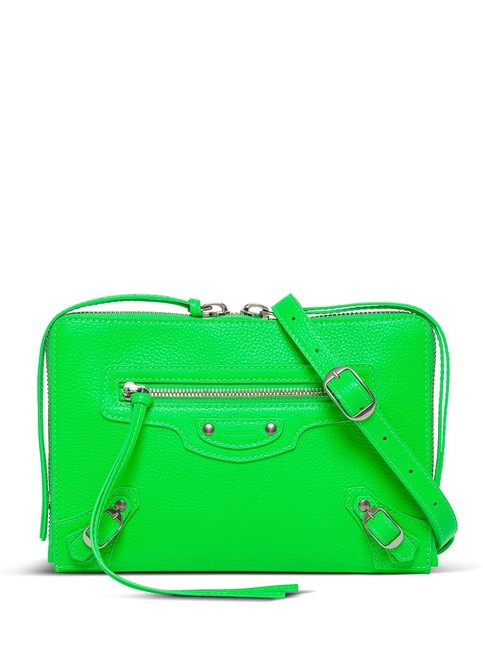 Item - Neo Classic Fluo Green Leather Cross Body Bag