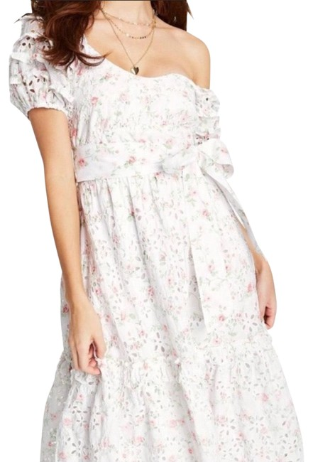 Item - White Pink Clementine Floral Mid-length Casual Maxi Dress Size 2 (XS)