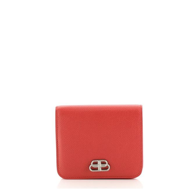 Item - Red Bb Bifold Leather Compact Wallet