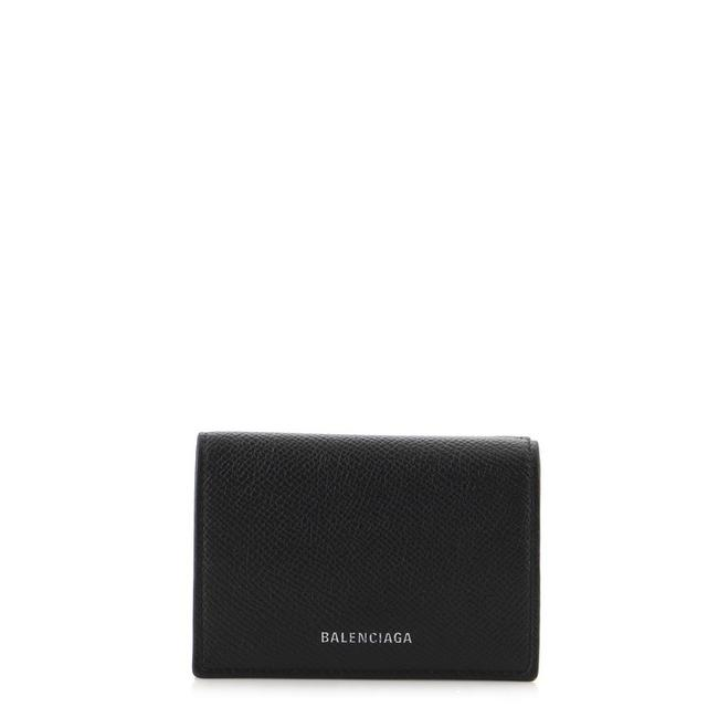 Item - Black Trifold Leather Compact Wallet