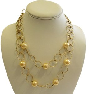 Pearlfection Pearlfection Faux Golden South Sea Pearl Necklace 16