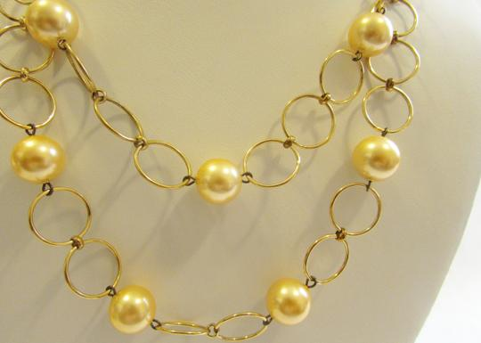 """Pearlfection Pearlfection Faux Golden South Sea Pearl Necklace 16"""""""