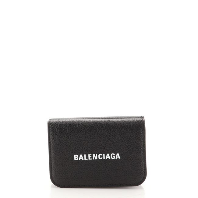 Item - Black Everyday Trifold Leather Mini Wallet