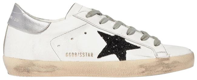 Item - White Superstar Glittered Distressed Leather Sneakers Size EU 39 (Approx. US 9) Regular (M, B)