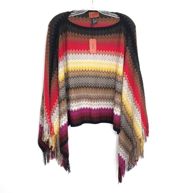 Item - Purple Multicolor Knit New with Tag Poncho/Cape Size OS (one size)