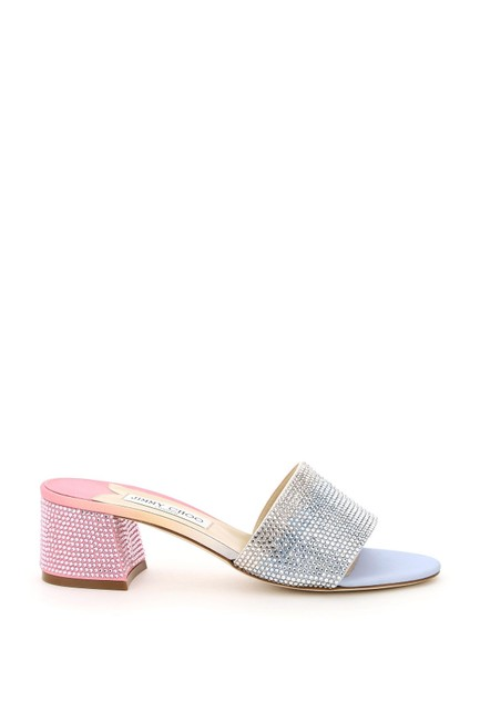 Item - Pink and Light Blue Minea with Crystals Sandals Size EU 37 (Approx. US 7) Regular (M, B)
