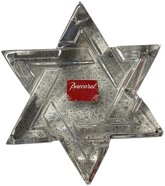 Item - Clear Box Crystal Star Of David Paperweight Signed With