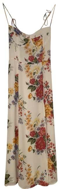 Item - White Floral Mid-length Casual Maxi Dress Size 2 (XS)