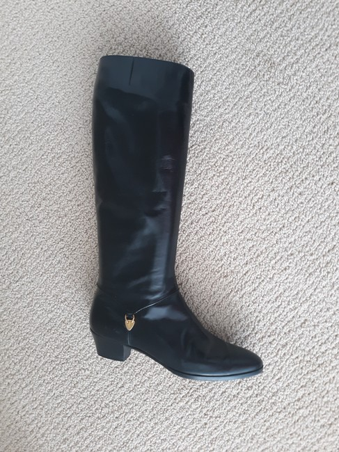 Item - Black Tall Leather Boots/Booties Size US 8 Narrow (Aa, N)