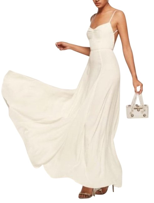 Item - Cream Thistle Open Back Ivory Maxi Long Cocktail Dress Size 4 (S)