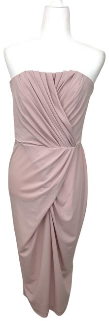 Item - Pink Pleated Strapless Mid-length Formal Dress Size 10 (M)