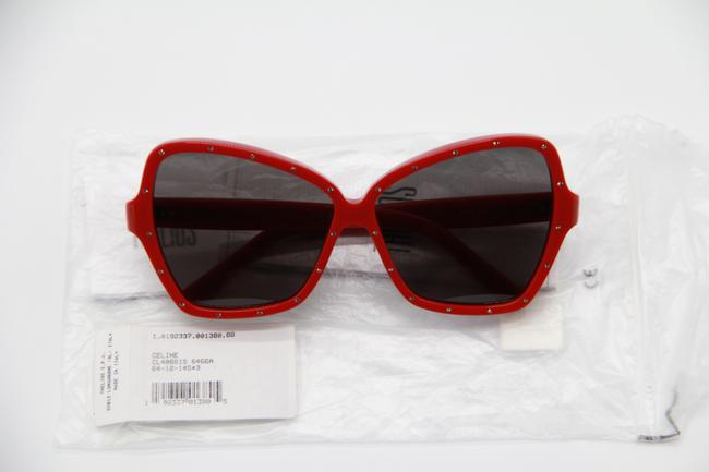 Céline Red Gray New Cl4066is 66a Women's Sunglasses Céline Red Gray New Cl4066is 66a Women's Sunglasses Image 11