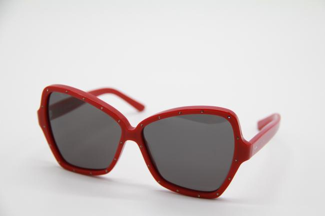 Céline Red Gray New Cl4066is 66a Women's Sunglasses Céline Red Gray New Cl4066is 66a Women's Sunglasses Image 4