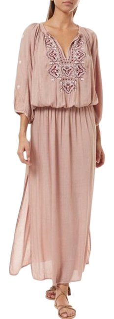 Item - Rose Sienna Embroidered Balloon Sleeves Long Casual Maxi Dress Size 2 (XS)