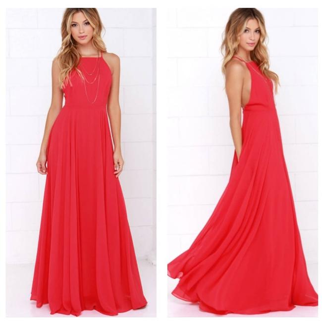 Item - Red Mythical Kind Of Love Maxi Formal Dress Size 4 (S)