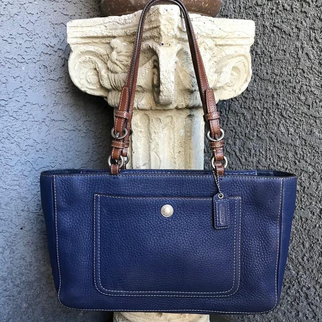 Item - Chelsea Navy Blue Leather Tote