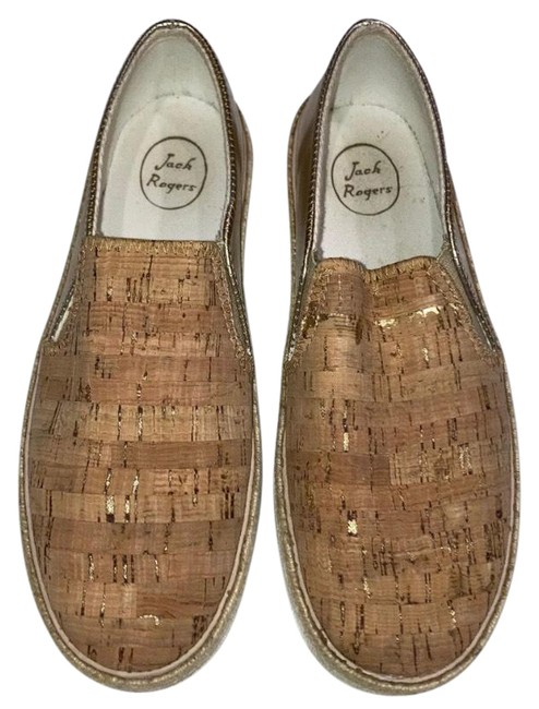Item - Cork and Gold Sneakers Size US 8.5 Regular (M, B)