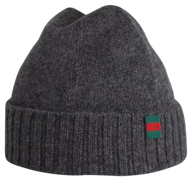 Item - Gray Knit Cashmere with Flag Size M Hat