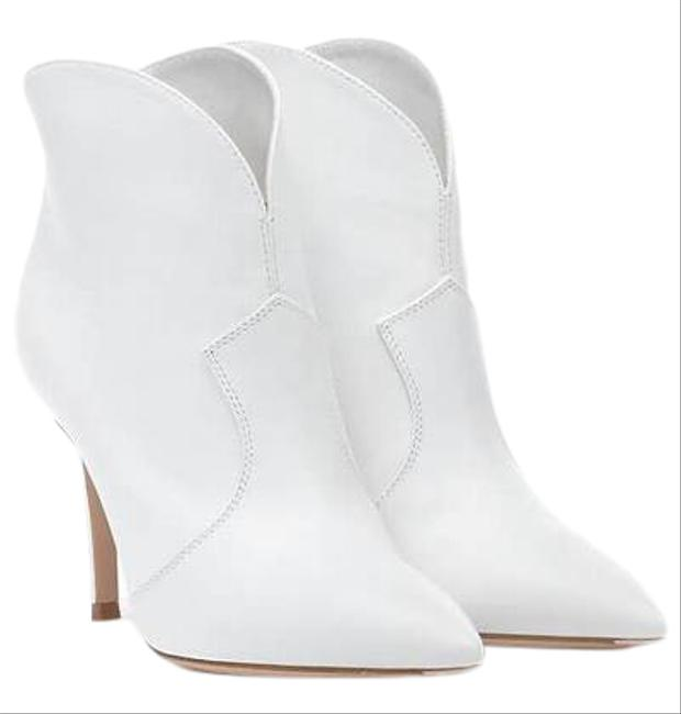 Item - White Mable Leather Ankle Boots/Booties Size EU 36 (Approx. US 6) Regular (M, B)