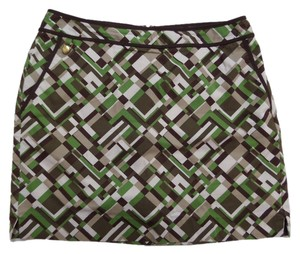 Liz Claiborne Skort Green, Brown & White