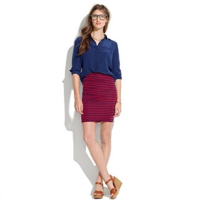 Item - Red Sailor Stripe Downtown Ponte Knit Skirt Size 2 (XS, 26)