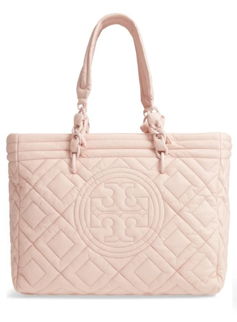 Item - Bag Fleming Small Quilted Pink Nylon Tote