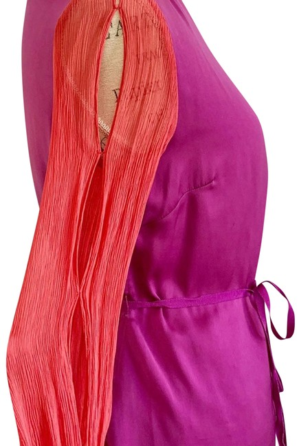 Item - Pink Purple with Cut Out Sleeves Blouse Size 4 (S)