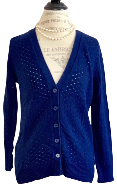 Item - Navy Color Button Down Cardigan Blue Sweater