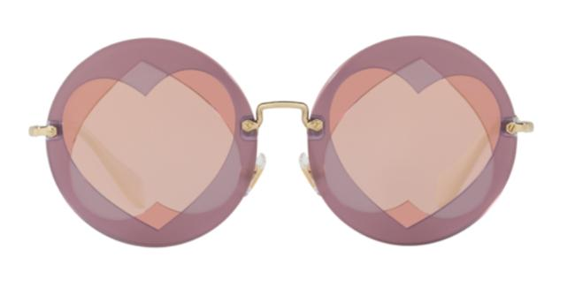 Item - Lilac / Pink / Gold / White Free 3 Day Shipping Cute New Oversized Large Round Smu 01s Va14m2 Sunglasses