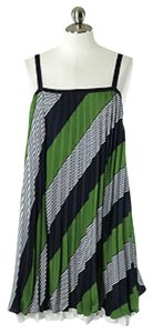 Thakoon short dress Green Blue White Striped on Tradesy