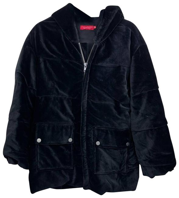 Item - Black Velour Quilted Small Coat Size 4 (S)