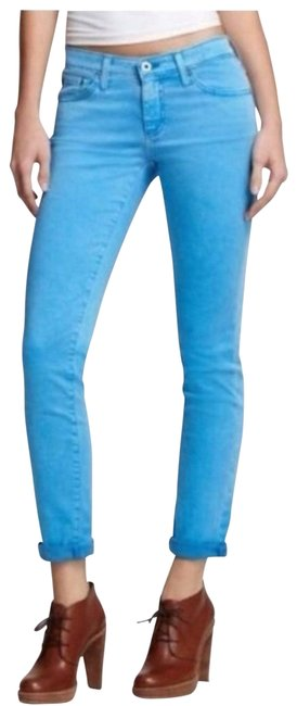 Item - Blue Stevie Ankle Distressed Skinny Jeans Size 29 (6, M)
