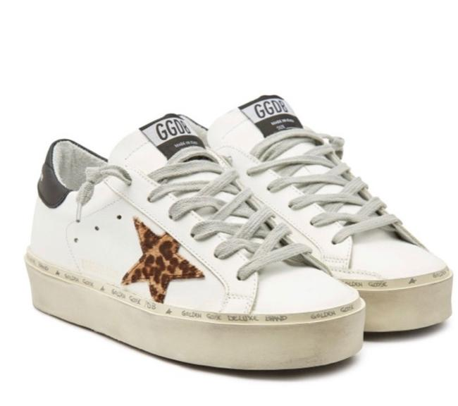 Item - White High Star with Calf Hair Sneakers Size US 12 Regular (M, B)