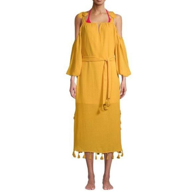Item - Yellow XS Jasmine Cold-shoulder Cover-up/Sarong Size 2 (XS)