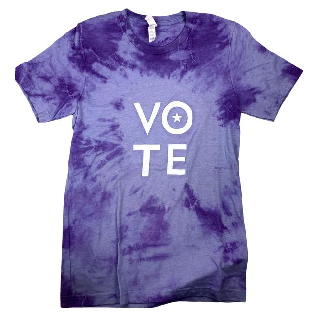 Item - Vote Hand Dyed Cotton Crew Neck Tie Dye - Ships Fast Tee Shirt Size 6 (S)