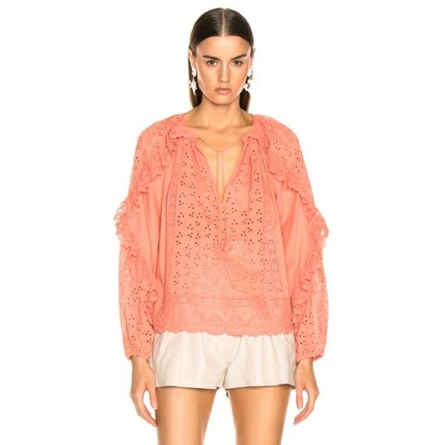 Item - Pink Orange Blanche In Coral Blouse Size 2 (XS)