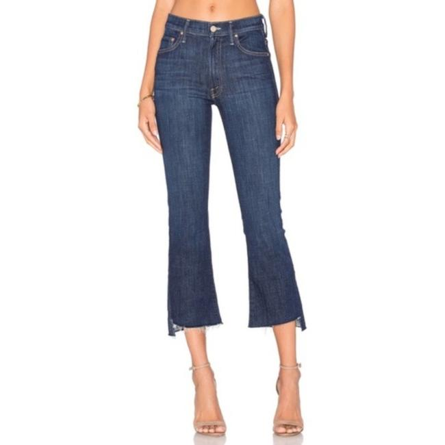 Item - Blue Dark Rinse Insider Crop Step Fray In Clean Sweep Straight Leg Jeans Size 28 (4, S)