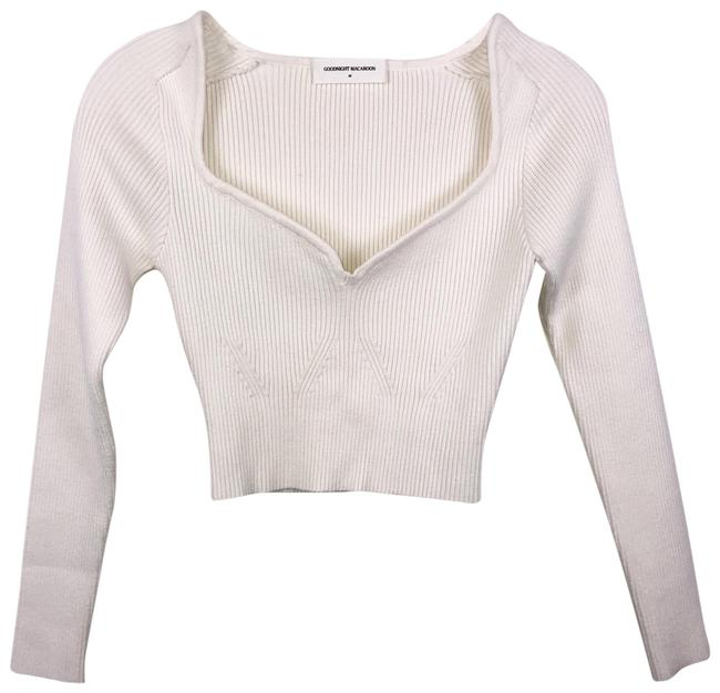 Item - Cream Delilah Crop Knitted Sweater Blouse Size 8 (M)