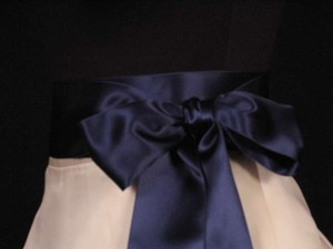 Navy Blue Ribbon Sash 2 3/4