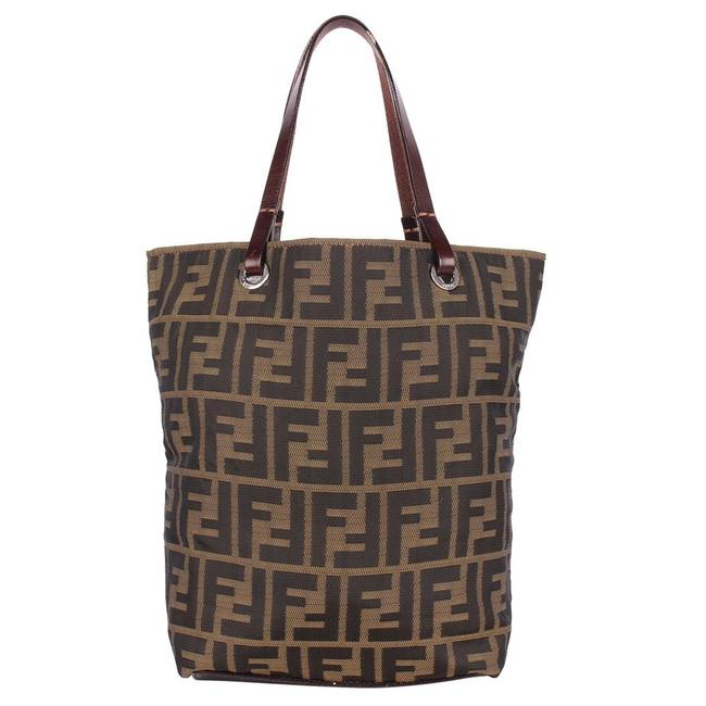 Item - Nylon Eco Shopping Hand Tote 9118 Brown Zucca Canvas Satchel