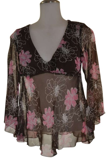 Preload https://item4.tradesy.com/images/rampage-brown-with-floral-print-blouse-size-10-m-292978-0-0.jpg?width=400&height=650
