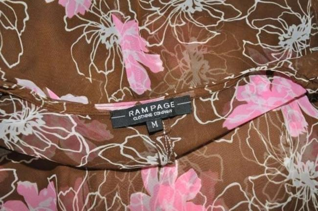 Rampage Top Brown with Floral Print
