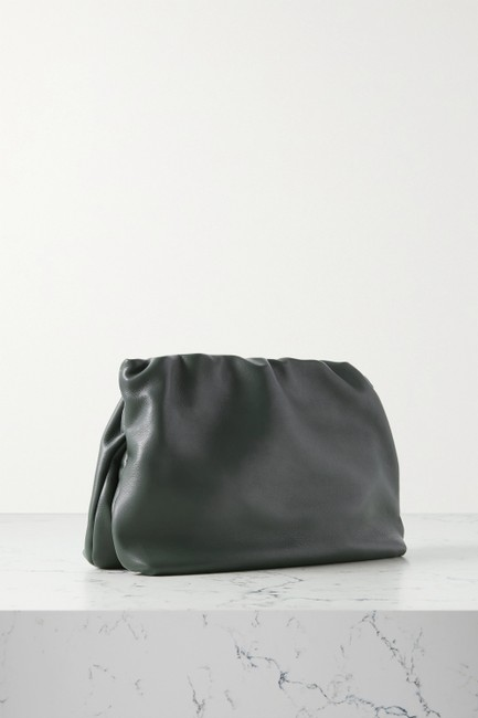 The Row Bourse Army Green Leather Clutch The Row Bourse Army Green Leather Clutch Image 3