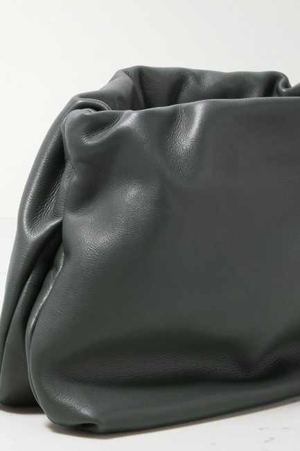 The Row Bourse Army Green Leather Clutch The Row Bourse Army Green Leather Clutch Image 4