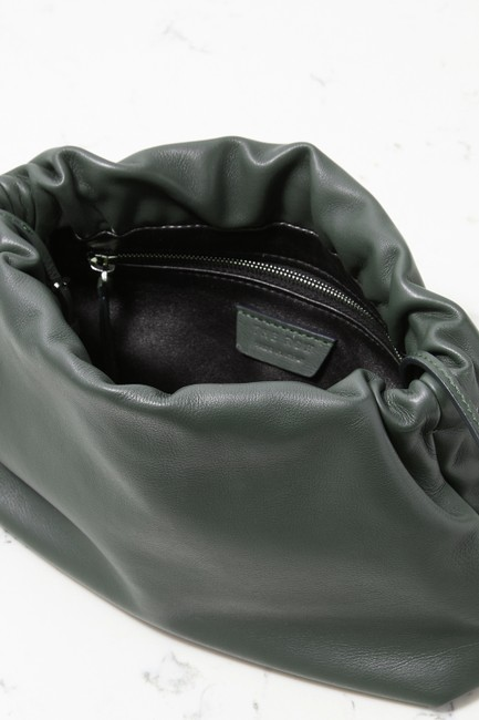 The Row Bourse Army Green Leather Clutch The Row Bourse Army Green Leather Clutch Image 5