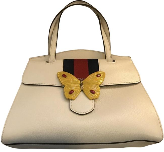 Item - Bag Butterfly Ivory Leather Tote