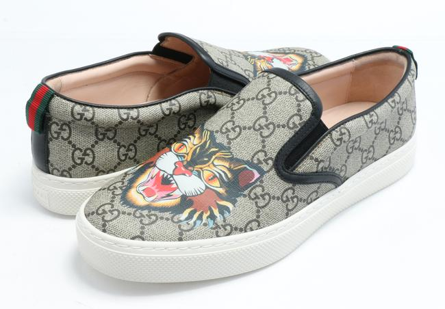 Item - Brown Angry Cat Sneakers Shoes