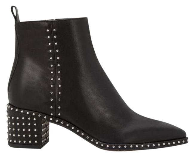 Item - Black Brook Studded Leather Pointed Toe Boots/Booties Size US 8.5 Regular (M, B)