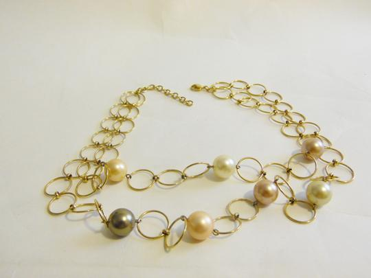 Pearlfection Pearlfection Faux Multi-color South Sea Pearl Necklace 16