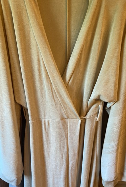 Missguided Tan Slinky Belted Wrap Long Casual Maxi Dress Size 6 (S) Missguided Tan Slinky Belted Wrap Long Casual Maxi Dress Size 6 (S) Image 3